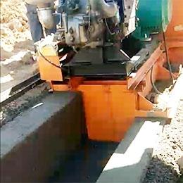 山西长治特殊矩形水渠机施工视频案例
